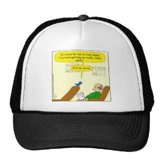 671 still no worm cartoon trucker hat