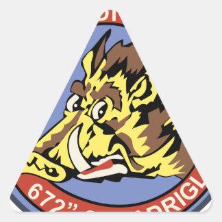672^ Squadriglia Triangle Sticker