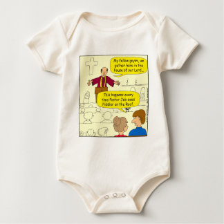 673 Pastor goes to Fiddler Cartoon Baby Bodysuit