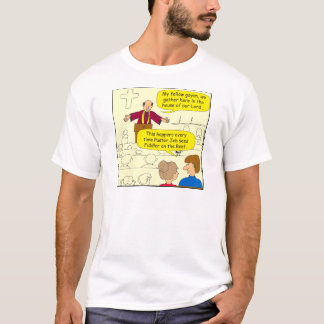 673 Pastor goes to Fiddler Cartoon T-Shirt