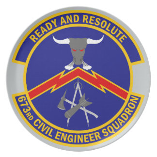 673rd Civil Engineer Squadron - Ready And Resolute Dinner Plate