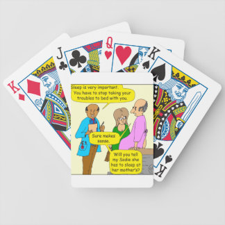 675 sleep is important cartoon bicycle playing cards