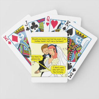 677 married me for my fortune cartoon bicycle playing cards