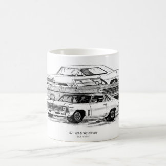 67, 63, 69 Novas - BW no border Classic White Coffee Mug