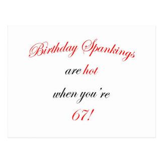 67 Birthday Spankings Postcard