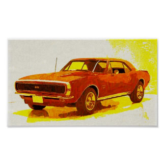 67 Camaro Impressionist Poster