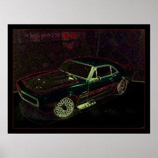 """""""67"""" Chevy Camaro Print"""