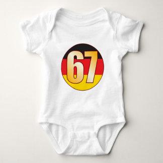 67 GERMANY Gold Baby Bodysuit