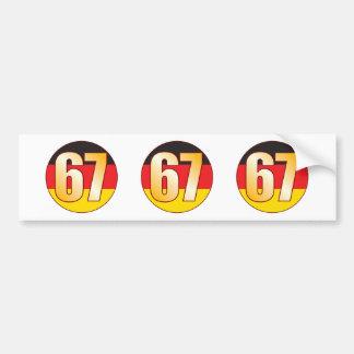 67 GERMANY Gold Bumper Sticker