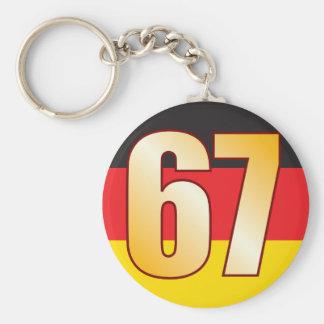 67 GERMANY Gold Keychain
