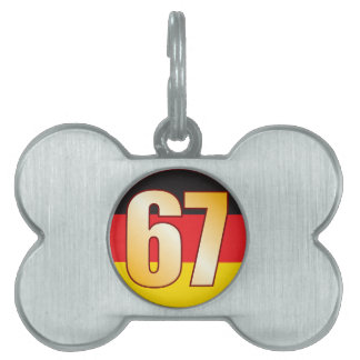 67 GERMANY Gold Pet ID Tag