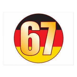 67 GERMANY Gold Postcard