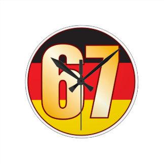 67 GERMANY Gold Round Clock