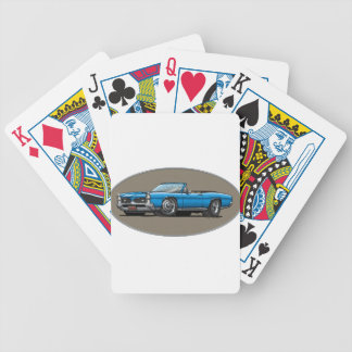 67 GTO_Blue_Convt Bicycle Playing Cards