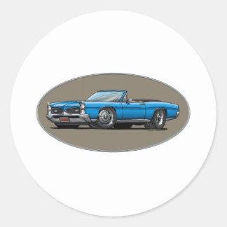 67 GTO_Blue_Convt Stickers