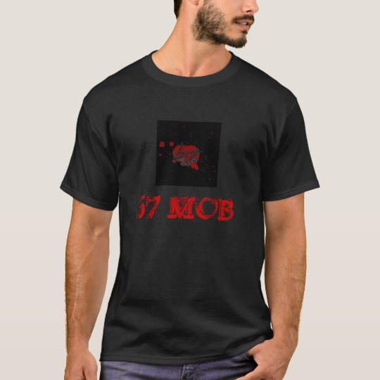 67 MOB RED RECORD LABEL LOGO BLACK T-Shirt