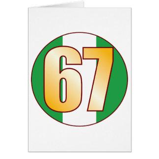 67 NIGERIA Gold Card