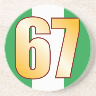 67 NIGERIA Gold Drink Coaster