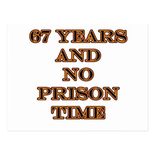 67 ninguna hora de prisión postales