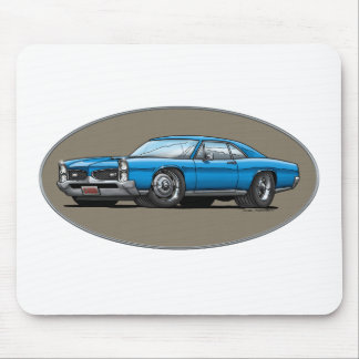 67 Pontiac GTO_blue Mouse Pad