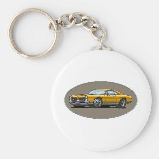 67 Pontiac GTO_gold Llavero Personalizado