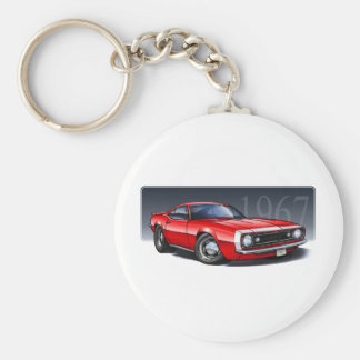 67_Red_W.png Basic Round Button Keychain
