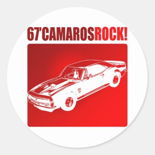 ¡67 rocas de Camaro! Pegatina Redonda