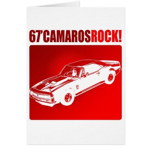 ¡67 rocas de Camaro! Tarjeta De Felicitación