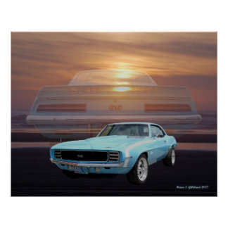 67 ss/rs camaro poster
