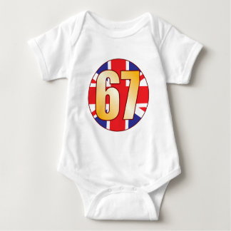 67 UK Gold Baby Bodysuit