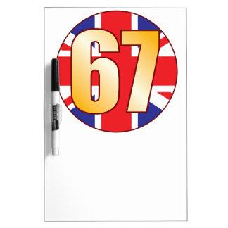 67 UK Gold Dry-Erase Board