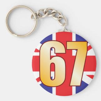 67 UK Gold Keychain