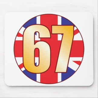 67 UK Gold Mouse Pad