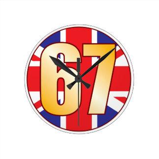 67 UK Gold Round Clock