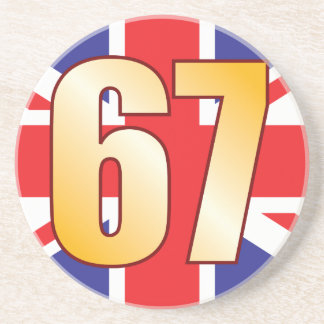 67 UK Gold Sandstone Coaster