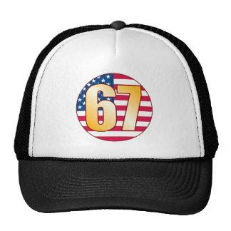 67 USA Gold Trucker Hat