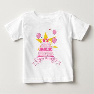 67 Year Old Birthday Cake Baby T-Shirt
