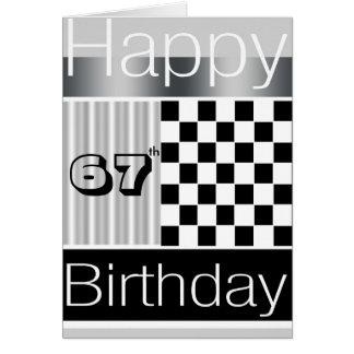 67th Birthday Card