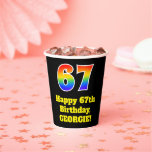 [ Thumbnail: 67th Birthday: Colorful, Fun, Exciting, Rainbow 67 ]