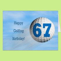 67th birthday golfing card