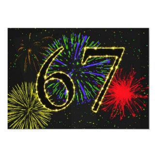 67th birthday party invitate card
