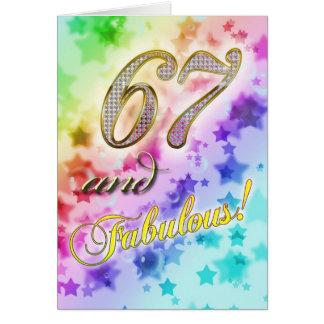 67th Birthday party Invitation