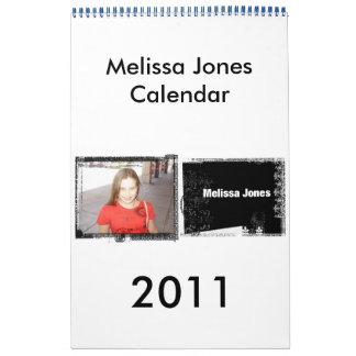 688229, 2011, Melissa Jones Calendar