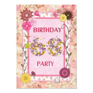 68.a invitación de la fiesta de cumpleaños con el