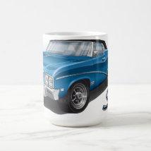 68 Buick Skylark Convertible in Blue Coffee Mug