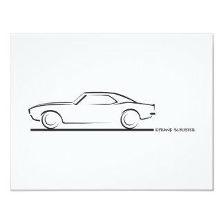 68 Camaro Hard Top BLK 4.25x5.5 Paper Invitation Card