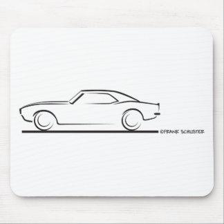 68 Camaro Hard Top BLK Mouse Pad