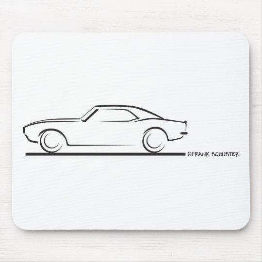 68 Camaro Hard Top Blk Mouse Pad Zazzlecom