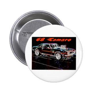 68 camaro pinback button