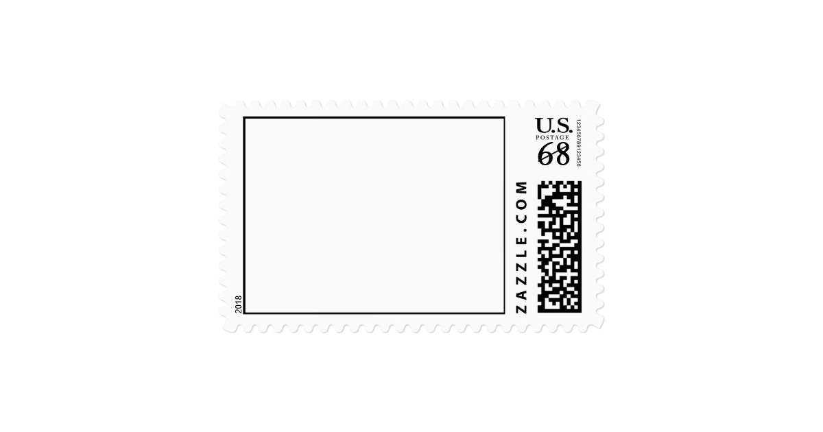 68 cent postage stamp template horizontal large zazzle. Black Bedroom Furniture Sets. Home Design Ideas